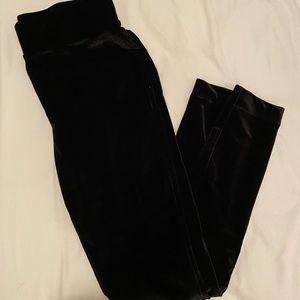 Loft black velvet leggings